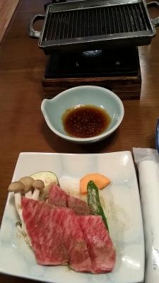 飛騨牛焼き肉。