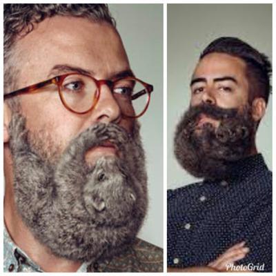 アイコンの髭が動物というカミングアウトをしましたが、一つ前のアイコン(右)と、もう1人ついでにご紹介します。こんなことでもしてないと暴風で家が揺れてて怖いんですわー。震度3ぐらい揺れてる・・・