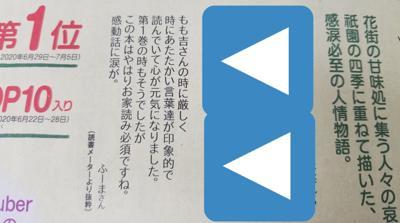 本日8月11日付の毎日新聞全三段広告にて、先日読メで投稿した「京都祇園もも吉庵のあまから帖2」の読了感想が掲載されました~✨  とても大好きな作品なのでめっちゃ嬉しい!(*/∀\*)  もしお家で毎日新聞とってる方いらっしゃいましたら、是非本日付の毎日新聞を読んでみてください~!他の素敵ユーザー様方の感想も要チェック☑️✨ とても心あたたかくなる素敵な小説なので、良かったら1巻から是非~↗️