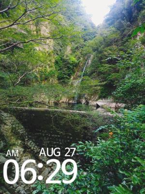 毎朝滝に通ってます。今日で15日目。