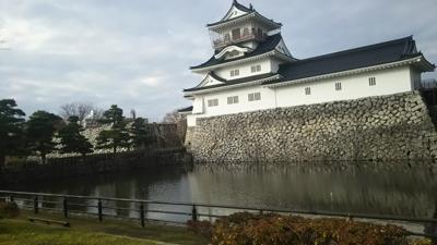 富山城……郷土博物館でもある。堀には水鳥が泳ぎ回る。