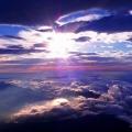 日の光と暁の藍