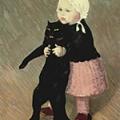 黒猫の散歩